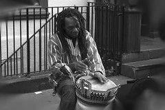 Musician - Street performer (wairua.photography) Tags: street bw musician blackwhite percussion streetperformer performer