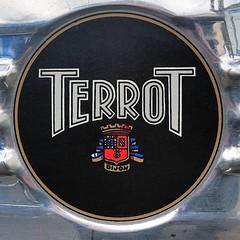 Terrot, JSS 350 cm3 (Dijon, France, 1939) (Cletus Awreetus) Tags: emblem logo dijon badge moto jss terrot motocyclette emblme