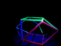 Sculpture of straws (Natik_Natik1) Tags: light sculpture colour translucent straws