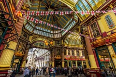 Leadenhall Market (James Waghorn) Tags: city england urban distortion london spring nikon leadenhallmarket market tavern lr6 sigma1020f456 d7100 topazclarity