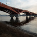 Uma das diversas pontes que cruzam o rio Han
