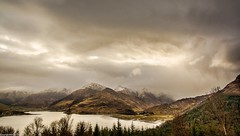 Five Sisters. (AlbOst) Tags: thefivesistersofkintail scottishmountains scottishlandscapes lochduich stormyskies westofscotland fivesisters kintail scottishscenery lochs mountains scotland fivesistersofkintail