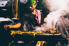 Pathar Gosht on roads of Bangalore (Aditya Chandra) Tags: travel people food india hot stone night canon fire market outdoor smoke bangalore streetphotography photowalk vendor karnataka streetfood streetvendor foodie ramzan foodstreet bengaluru frazertown mosquestreet blrphotowallk