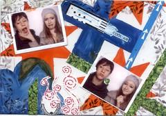 April scavenger hunt postcard (CaZaTo Ma) Tags: collage mixedmedia postcard ama mailart swapbot hmpc