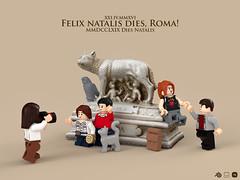 Felix Natalis Dies, Roma! (gabriele.zannotti) Tags: birthday rome roma 3d lego render blender natale lupa compleanno remo fondazione romolo mecabricks