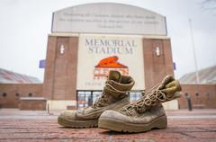 Combat Boots at Memorial Stadium (clemsonnews) Tags: memorialstadium combatboots clemsonuniversity kenscar usmarinecorps
