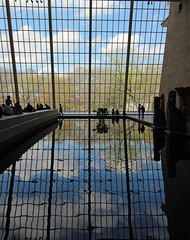 Inside the Metropolitan museum of Art New York City (David Russell UK) Tags: new york city reflection art water pool museum egypt exhibit collection egyptian metropolitan