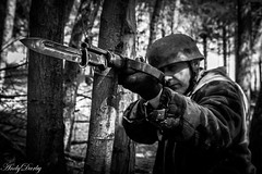 Don't point that at me (Andy Darby) Tags: helmet german medic sani arley paratrooper k98 fallschirmjager
