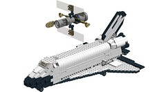 7470 Space Shuttle Discovery (RS 1990) Tags: 2003 lego discovery spaceshuttle discoverychannel ldd discoverykids 7470 digitaldesigner