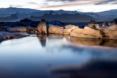 Jokulsarlon, Iceland by Leica M & Noctilux (yAvuz.kaya) Tags: leica lake ice iceland noctilux jokulsarlon lightroom f095 glaciallake icelake leicamp leicam