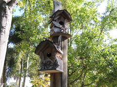 DSCN8472 (Dale_Wiley) Tags: art metal birdhouse statues horseshoes