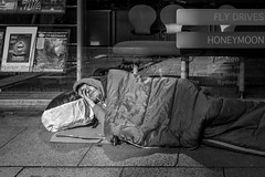 For richer:For poorer (Away for a week.....) Tags: manchester honeymoon northwest asleep tramp vagrant sleepingbag deansgate sleepingrough northwestengland flydrive trailfinder