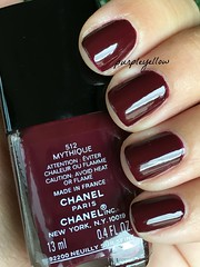 Chanel Mythique (purple yellow) Tags: nail polish chanel 512 mythique