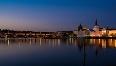 Day #97 - Endless River (Tomyk Vcha) Tags: night river nikon prague praha 365 charlesbridge vltava d7100