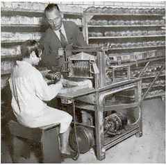 The greatest thing since itself: one of the earliest bread slicing machines, at a St. Louis bakery (1930) [439  436] #HistoryPorn #history #retro http://ift.tt/1UiQyoG (Histolines) Tags: history st bread one louis thing since retro bakery timeline greatest machines itself 1930 earliest the slicing 439 436  vinatage historyporn histolines httpifttt1uiqyog