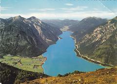 Ansichtkaart Blick out bachensee Tirol (dickjan thuis) Tags: mountain lake see meer postcard postkarte ansichtkaart bachensee blickoutbachensee
