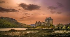 scotland tour april 2016 (andrebelg) Tags: sunset sea castle landscape eilean donan