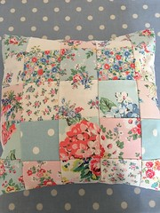 Patchwork cushion covers (patchwork and lace) Tags: patchworkandlace handmade patchwork cathkidston shabbychic