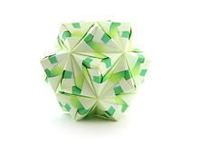 ,   ! (ronatka) Tags: birthday green square whitebackground gift variation modularorigami kusudama sonobe efs18135mmf3556is nataliaromanenko pteroissonobe