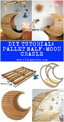 Diy Tutorial: Pallet Half-moon Cradle (irecyclart) Tags: pdf tutorial cradle halfmoon recyclingwoodpallets
