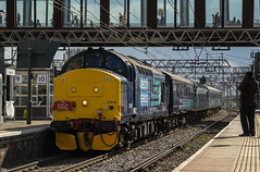 37419 - 1G04 - Stratford - 30.04.2016 (Tom Watson 70013) Tags: street charity tractor london set train liverpool tour diesel rail railway short greater express each services stratford direct anglia drs class37 37405 37419 1g04