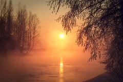 Iisalmi (Tuomo Lindfors) Tags: winter sun mist snow ice water sunrise suomi finland stream frost dxo lumi talvi vesi usva jää aurinko iisalmi auringonnousu virta pakkanen filmpack theacademytreealley paloisvirta