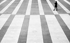 Chess (fernando_gm) Tags: madrid street people blackandwhite bw woman blancoynegro monochrome 35mm monocromo fuji simplicity fujifilm simple minimalist simetry simetria minimalista