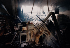 Downtown Portage Fire, Jan 4, 1994, Interior Wreckage