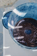 mixing indigo () Tags: indigo craft melbourne workshop dye dyeing shibori sonya7  sel35f28z