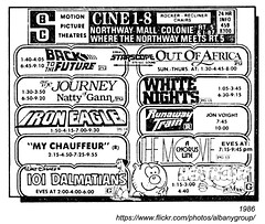 1986 cine 1-8 northway mall (albany group archive) Tags: albany ny 1986 cine 18 northway mall movie theater old vintage photos picture photo 1980s photograph history historic historical