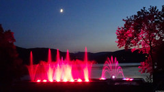 Water Play Titisee with moon (VillageHero) Tags: flickr simplybeautiful