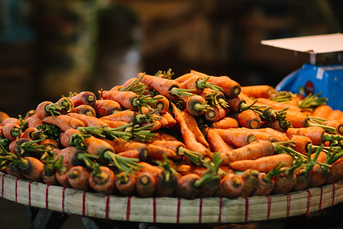 Carrots in Night Market, Cebu Philippines