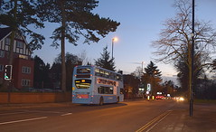 Warwick Road/Spencer Road junction, Coventry (paulburr73) Tags: bus buses night alexander dennis coventry westmidlands doubledecker nationalexpress nxc warwickuniversity adl expressservice 12x earlsdon spencerroad warwickroad 4775 trident2 enviro400 limitedstop nxwm bluelivery nxgroup