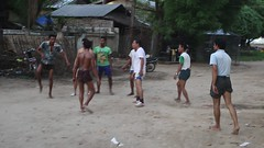 Keep the ball aloft gracefully in a game of chin lone (Bn) Tags: street people game men art net feet sport ball indonesia fun thailand foot football video team asia cambodia native kick head burma soccer chest philippines touch fast player malaysia lone match myanmar volleyball players laos knee popular birma chin rattan twine takraw handwoven sepak vdo aloft chinlone sipa altinho footvolley jianzi teniis oldbagan gymnatics footbaf bassoball