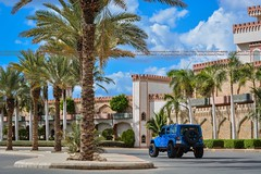 "4""  M Y   R E A L   M O N S T ER (dr.7sn Photography) Tags: old blue man yellow jeep shocks hydro saudi arabia emu jeddah unlimited arb jk wrangler 2014 liftkit جيب معدل رانجلر بالكامل dr7sn"