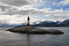 Faro Les Eclaireurs (Ryan Hadley) Tags: patagonia lighthouse mountains southamerica argentina clouds landscape tierradelfuego ushuaia island boat beaglechannel andesmountains canalbeagle leseclaireurs farodelfindelmundo faroleseclaireurs leseclaireurslighthouse lighthouseattheendoftheworld islagrandedetierradelfuego martialmountains