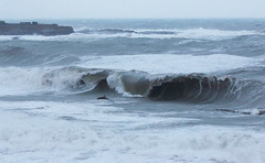 Storm wave, Wick Bay on 4 January 2016. (Shandchem) Tags: storm bay scotland waves harbour gale wick caithness