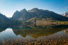 Jenny Lake, Grand Teton (MarkWarnes) Tags: lake mountains reflection water boat fishing shore wyoming grandteton jacksonhole tetonrange grandtetonnationalpark jennylake