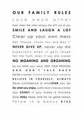FAMILY RULES (Jasmine Bu) Tags: life travel family people baby house love nature fun funny natural earth humor humour gifts quotes organic