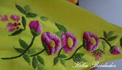 KikaBordados Kika  Krauss 091 (Kika Bordados by Angelica Krauss) Tags: pink flowers flores handmade embroidery laranja crochet tshirt amarelo bordados manualidades croche embroider feitomo camisetabordada camisetabordadamo bordadosfeitomo kikabordadoskikakrauss
