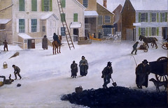 Francis Guy, Winter Scene in Brooklyn (detail), 1820