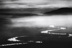 Misty river (Chris Herzog) Tags: county morning chris mist reflection nature water monochrome beautiful beauty weather misty fog river landscape outdoors lights haze scenery view natural dusk foggy scenic dramatic peaceful scene calm mysterious hazy herzog tranquil 500px ifttt