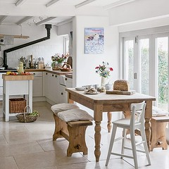 Country Kitchen & Dining Room (Heath & the B.L.T. boys) Tags: wood white kitchen bench stove diningroom