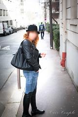 elle168 (Cuir Couple) Tags: leather mistress leder pant pantalon cuero cuir hosen maitresse