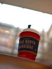 true north (Ian Muttoo) Tags: red toronto ontario canada cup coffee gimp starbucks mlange blend redcup nordique ufraw truenorth starbucksredcup truenorthblend nordiquemlange dsc52321edit