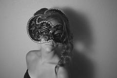 228(copy) (Maria Elizabeth22) Tags: portrait woman white black love girl hair photography grey mask curl bun