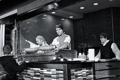 Street 73 (`ARroWCoLT) Tags: street people bw food man monochrome sepia photography blackwhite candid fastfood fast samsung mini istanbul f18 dner kebab seller sb doner sokak kokorec nx skdar 17mm siyahbeyaz kokore nxm