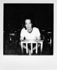 Marlon Williams (chloe_ackers) Tags: white black london film church st project polaroid shoot williams instant pancras marlon impossible