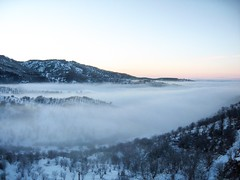 Alatau Mountains (Tim Cambridge) Tags: morning travel sky mist snow mountains travelling film nature beautiful sport fog forest evening asia escape hiking air climbing almaty revenant