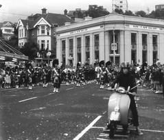 George St Parade, Dunedin c1972 (Lim SK) Tags: new st george pipe band scottish zealand dunedin